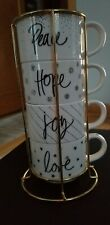 Pier 1 Holiday Stacking Cup Set - Newpeace, hope, joy, love