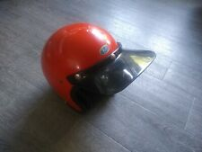 Vintage Buco Enduro Helmet Visor 70s Racing Orange