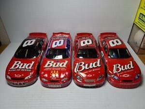 Lot of 4 Dale Earnhardt Jr Budweiser 1:24 Scale Die-Cast Action *NO BOXES*