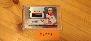 2016-17 UD Fleer Showcase Hot Prospects Rookie Auto Patch Sebastian Aho #1/10