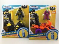 imaginext DC Super Friends Batman & Batcycle Plus the Joker & Cycle Get Both !