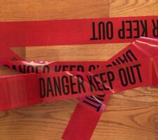 "DANGER KEEP OUT TAPE - 25 FEET 3"" WIDE CRIME SCENE DO NOT CROSS POLICE LINE"