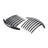 2pcs Hair Comb Pin Accessories Plastic Women Lady Fashion Black F1T2