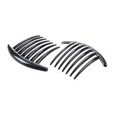 2pcs Hair Comb Pin Accessories Plastic Women Lady Fashion Black F1T2