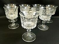 Set of 8 Antique NORTHWOOD Strawberry and Cable Water Goblets Glasses Glassware