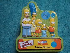 2001 The Simpsons Trivia Game Collectible Tin Complete!!