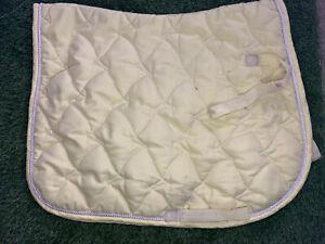 Lemon Padded Saddle Cloth