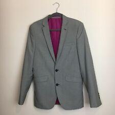 "Super Slim Fit Suit Jacket Blazer Black White Houndstooth Prom 36"" Chest Ball"