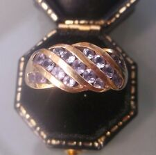 Women's 9ct Gold Quality Amethyst Ring Hallmarked Weight 3.42g Size O Stamped