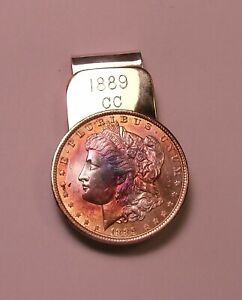 VINTAGE KING RANCH Sterling Silver/Brass Morgan Dollar  Money Clip (Handwrought)