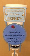 In Loving Memory Of A Dear Nephew Grave Spike Flower Vase Memorial Tribute BHT