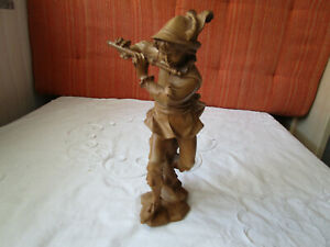 Holzfigur - handgeschnitzt - Tirol - Der Flötenspieler