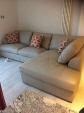 Leather L shaped Left Hand Corner/Sectional Sofas