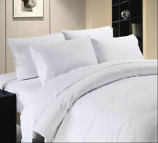 1200 Thread Count Egyptian Cotton White Solid Bed Sheet Set All Sizes