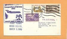 FIRST FLIGHT AM5 MIAMI U.S V.I MAR 1,1969 F29-53