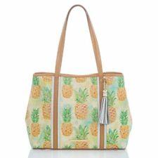 Brahmin Medium Julian Pompano Leather Bag shoulder Purse Pineapple New