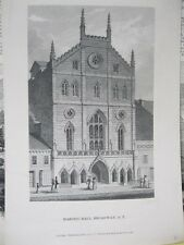 Vintage Print,MASONIC HALL,Blacks,New York,1831