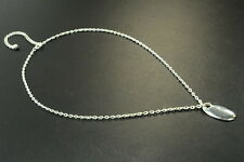 Necklace, Cute Oval Pendant (Zx3) Traditional Ladies Simple Stylish Silver Tone