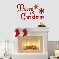 Merry Christmas Wall Sticker Vinyl Decorations Windows Art Xmas Decal Mural