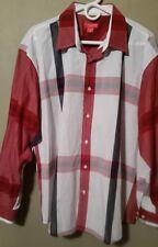 Giorgio Ebenni XL Button Front Long Sleeved 100% Cotton Men's Casual Shirt