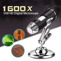 1600X USB Digital Microscope 8 LED for Electronic Accessories Coin Inspection US