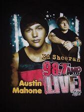 Ed Sheeran Austin Mahone 2014 Concert T Shirt Medium Meadow Brook MI Icona Pop