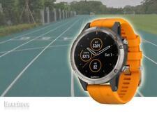 GARMIN Fenix 5 Plus Sapphire Titanium Orange GPS HRM Sports Running Topo Maps
