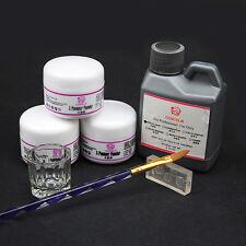 Coscelia Nail Art Kit Acrylic Liquid Powder Pen Dappen Dish Set White Clear Pink