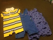 Lot 3 Pc. Infant Baby Boy Romper Ralph Lauren Tommy Hilfiger Carters 9-12 Mo