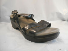 Dansko Black Leather Ankle Strap Sandals Women's Size 10.5 - 11 ; 41 EUR