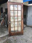 Mar 318 Antique Birch Beveled Glass 15 Light Entry Door 38 5/8 X 82W Jamb