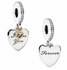 70%OFF Genuine PANDORA I Love You FOREVER Pendant Charm Silver S925 ALE 792042CZ