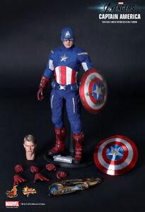 Hot Toys The Avengers Captain America Steve Rogers Chris Evans 1/6 Figure 2012
