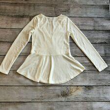Bebe Girls Skater Dress size 10 Off White Long Sleeve Ivory Lace Dressy Be Be