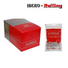 Filtros DOREX 8 mm. Caja de 20 bolsas. 150 filtros por bolsa. Liar tabaco