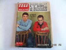 TELE MAGAZINE N°380 03/02/1963 THIERRY ROLAND FRANCOIS JANI DE CAUNES  I69