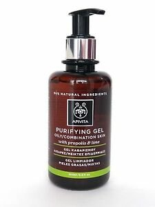 APIVITA Natural Face Purifying Gel Oily Combination Skin Propolis & Lime 200ml