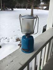 Vintage Lumogaz Lantern Automatique Blue Made In France New Never Lit