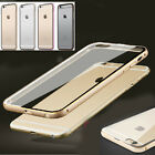 Ultra-Thin Aluminum Metal Bumper Clear Back Case Cover SKin for iPhone 6+Plus 5s