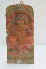 Vintage Wooden HandCarved Elephant God Ganesh Ganesha Figure Wall Hanging NH2077