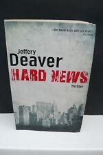 BUCH HARD NEWS JEFFERY DEAVER KRIMI THRILLER ROMAN LITERATUR TASCHENBUCH BOOK !!