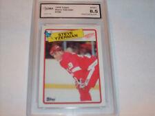 Steve Yzerman GRADED CARD!!!!!! 1988/89 Topps #196 Redwings HOFer!! 8.5-3