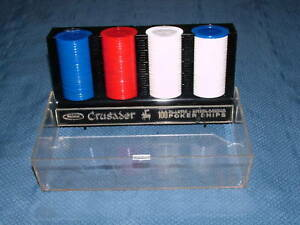 VINTAGE WHITMAN CRUSADER 100 PLASTIC POKER CHIPS