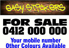 580mm For Sale Custom Car Ute Sticker Sign Window Windscreen - Any Colour!