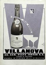Spumante VILLANOVA - az. Agr. PIAVE ISONZO - pubblicità anni '40
