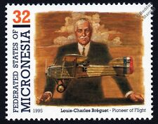 Louis-Charles BREGUET Bre.16 WWI Biplane Aircraft Stamp (1995 Micronesia)