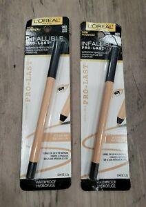 L'Oreal Infallible Pro-Last Waterproof Eyeliner Pencil- 980 Nude- 2 Pack- New!