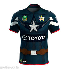 North Queensland Cowboys Marvel Captain America Jersey Ladies Size 8 ISC NRL 17