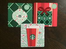 "Canada Series Starbucks ""MINI HOLIDAY CARD SET 2018"" 3 Gift Cards - New No Value"