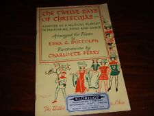 1956 Vintage Sheet Music - The Twelve Days of Christmas - Musical Playlet